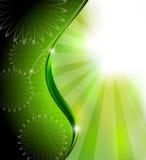 Grüner abstrakter Hintergrund Stockfoto