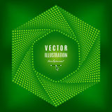 Grüner abstrakter Hintergrund, futuristische Technologieart-Hexagongestaltungselemente lizenzfreie abbildung
