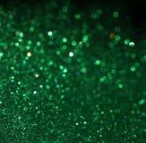 Grüner abstrakter Hintergrund, grüne bokeh Zusammenfassung beleuchtet Stockbild