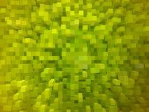 Grüner abstrakter Hintergrund mit quadratischen Formen Stockfoto