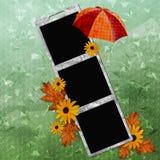 Grüner abstrakter Hintergrund mit Regenschirm Vektor Abbildung