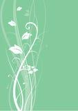 Grüner abstrakter mit Blumenhintergrund Lizenzfreie Stockfotos