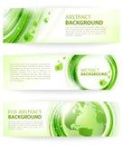 Grüner abstrakter Vektorhintergrund mit Erde Lizenzfreie Stockfotos