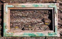 Grüner alter Weinleserahmen Lizenzfreie Stockbilder