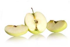 Grüner Apfel lizenzfreie stockfotos