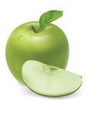Grüner Apfel Stockbild