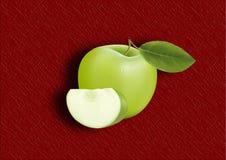 Grüner Apfel Stockfoto