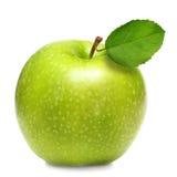 Grüner Apfel getrennt Stockbild