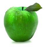Grüner Apfel getrennt Stockbilder