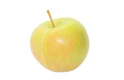 Grüner Apfel getrennt auf Weiß stockfotografie