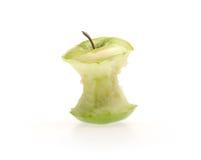Grüner Apfel mit Bissen Lizenzfreies Stockbild