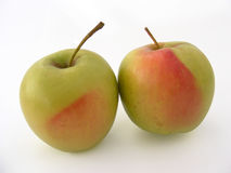 Grüner Apfel stellt Reihe für den Fruchtsaft dar, der 4 verpackt Lizenzfreie Stockfotografie