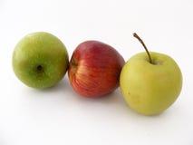 Grüner Apfel stellt Reihe für den Fruchtsaft dar, der 2 verpackt Lizenzfreie Stockfotos
