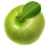Grüner Apfel trennte Stockfotografie