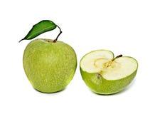 Grüner Apfel und Kapitel lizenzfreie stockfotos
