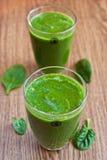 Grüner Apfel und Spinat Smoothie Lizenzfreie Stockfotografie