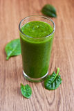 Grüner Apfel und Spinat Smoothie Stockfotografie