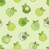 Grüner Apfelbaum des Patchworks Lizenzfreie Stockfotografie