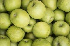Grüner Apfelhintergrund Lizenzfreie Stockfotografie