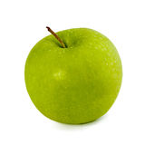 Grüner Apple auf Weiß Lizenzfreie Stockfotos