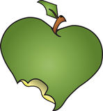 Grüner Apple gebissen lizenzfreie abbildung