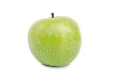 Grüner Apple getrennt auf Weiß Stockfotografie