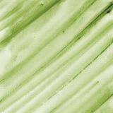 Grüner Aquarellbeschaffenheitshintergrund, handgemalt Lizenzfreies Stockfoto