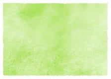 Grüner Aquarellfrühling, Ostern-Hintergrund mit künstlerischen Rändern Stockbild