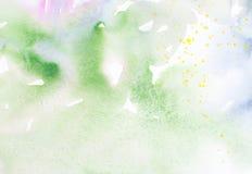 Grüner Aquarellhintergrund Stockbilder