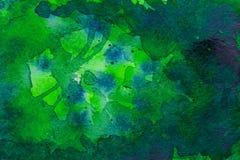Grüner Aquarellhintergrund lizenzfreie stockfotos