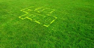 Grüner Aufbau vektor abbildung