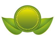 Grüner Aufkleber und Grün bedeckt die Natur ist schön! Lizenzfreie Stockbilder