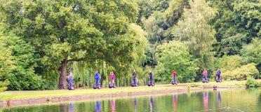 Grüner Ausflug und ökologische Touristen Stockfoto