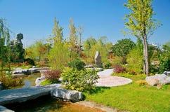 Grüner Ausstellungs-Garten in Zhengzhou Stockfotografie