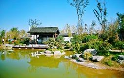 Grüner Ausstellungs-Garten in Zhengzhou Stockbilder