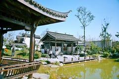 Grüner Ausstellungs-Garten in Zhengzhou lizenzfreies stockbild