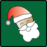 Grüner Backgrounded Santa Icon lizenzfreie stockfotos