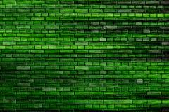 Grüner Backsteinmauer-Hintergrund Stockbild