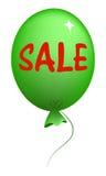 Grüner Ballon mit Verkaufsmitteilung lizenzfreie abbildung