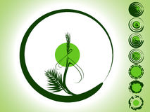 Grüner Bambus Lizenzfreie Abbildung
