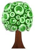 grüner Baum 3D Lizenzfreies Stockbild