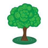 Grüner Baum vektor abbildung