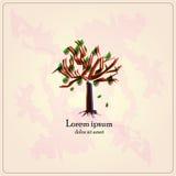 Grüner Baum des Vektors Lizenzfreie Abbildung