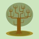 Grüner Baum mit Stamm und Niederlassungen Lizenzfreie Stockbilder