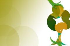 grüner Baumrecht-Zusammenfassungshintergrund Lizenzfreie Stockbilder