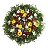 Grüner Begräbnis- Kranz Lizenzfreies Stockbild