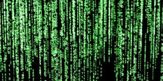 Grüner binärer Code auf schwarzem Hintergrund Lizenzfreie Stockbilder