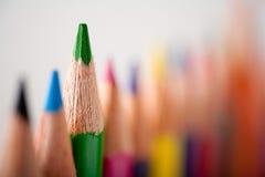 Grüner Bleistift Lizenzfreies Stockfoto