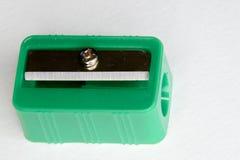 Grüner Bleistiftspitzer Stockbilder