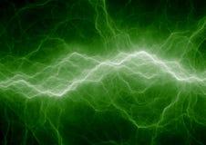 Grüner Blitzschlag Stockfotos